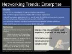 networking trends enterprise