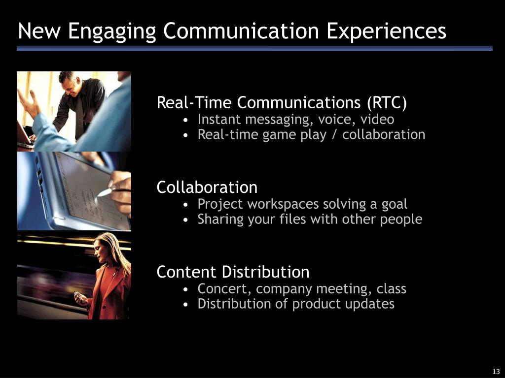 New Engaging Communication Experiences