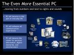 the even more essential pc