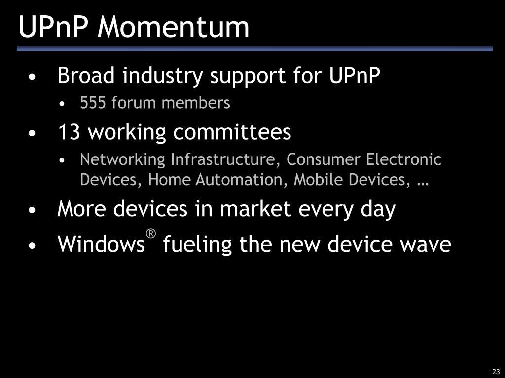 UPnP Momentum