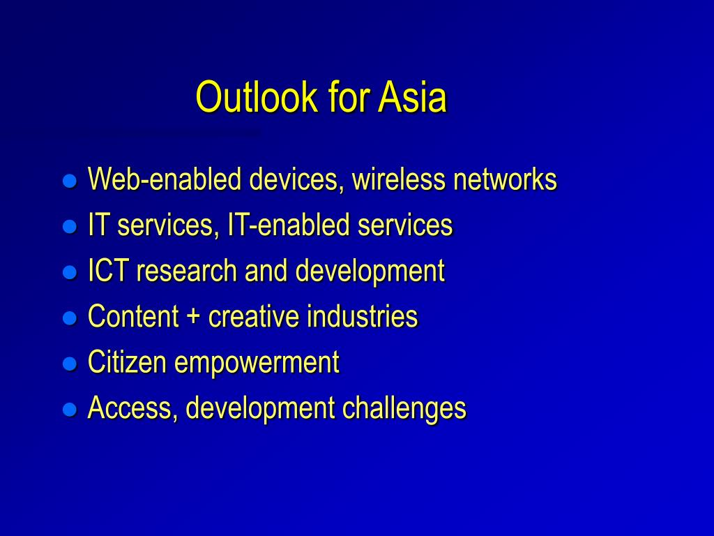 Outlook for Asia