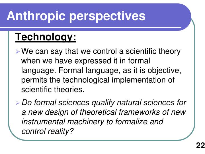 Anthropic perspectives