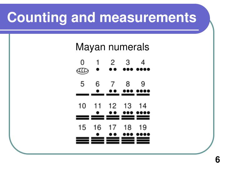 Counting and measurements