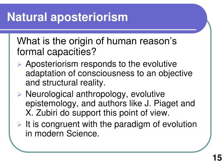 Natural aposteriorism