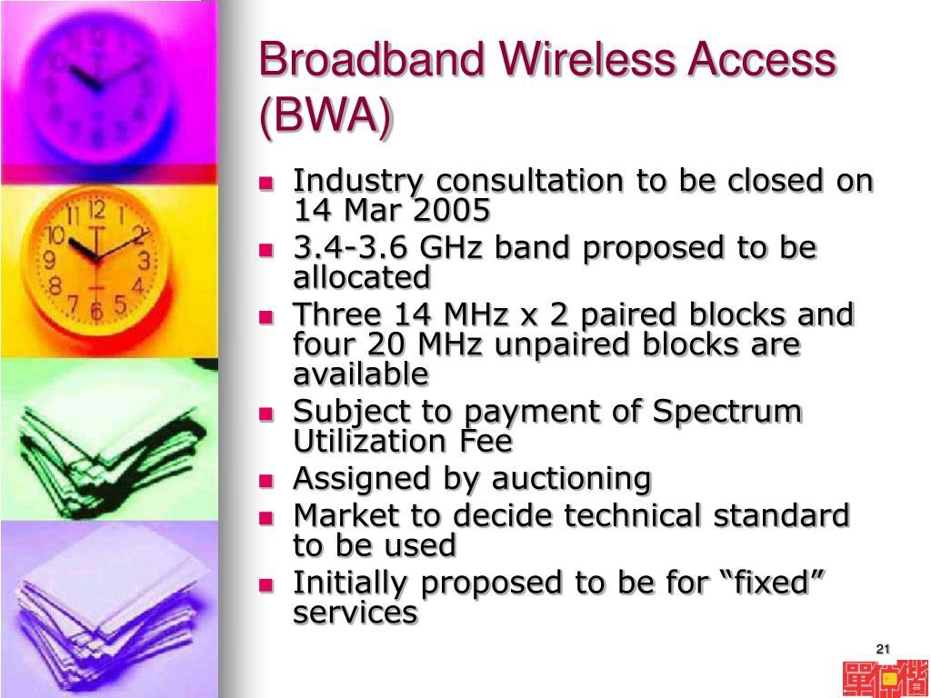 Broadband Wireless Access (BWA)