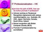 it professionalization hk36