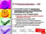 it professionalization hk38