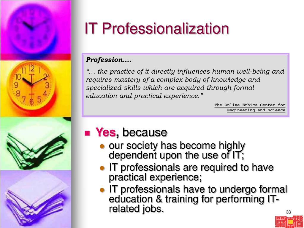 IT Professionalization
