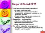 merger of ba and ofta25