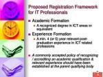 proposed registration framework for it professionals