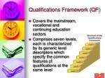 qualifications framework qf