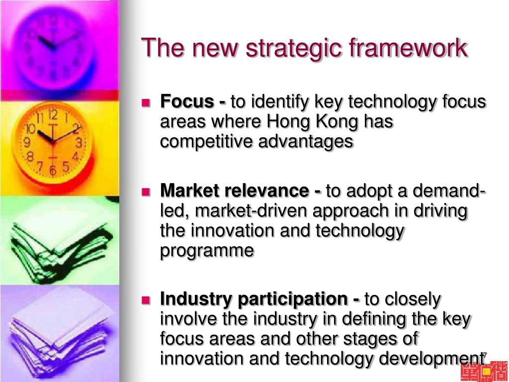 The new strategic framework