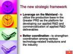 the new strategic framework8