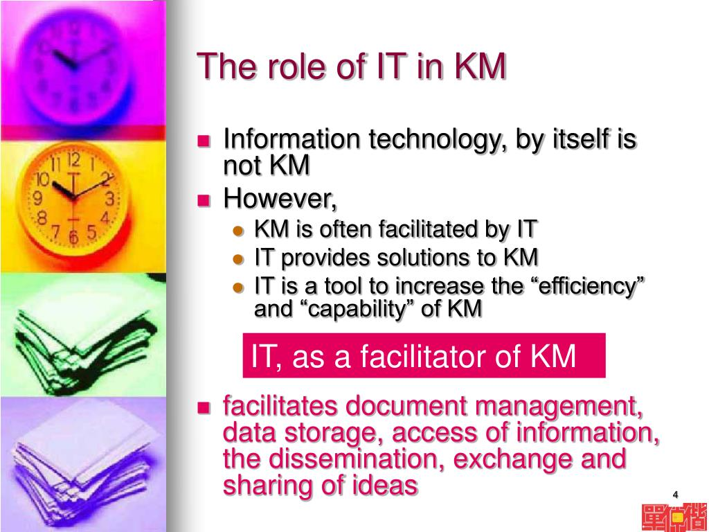 The role of IT in KM