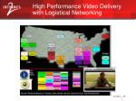 high performance video delivery with logistical networking