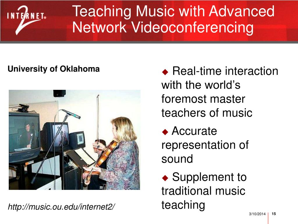Teaching Music with Advanced Network Videoconferencing