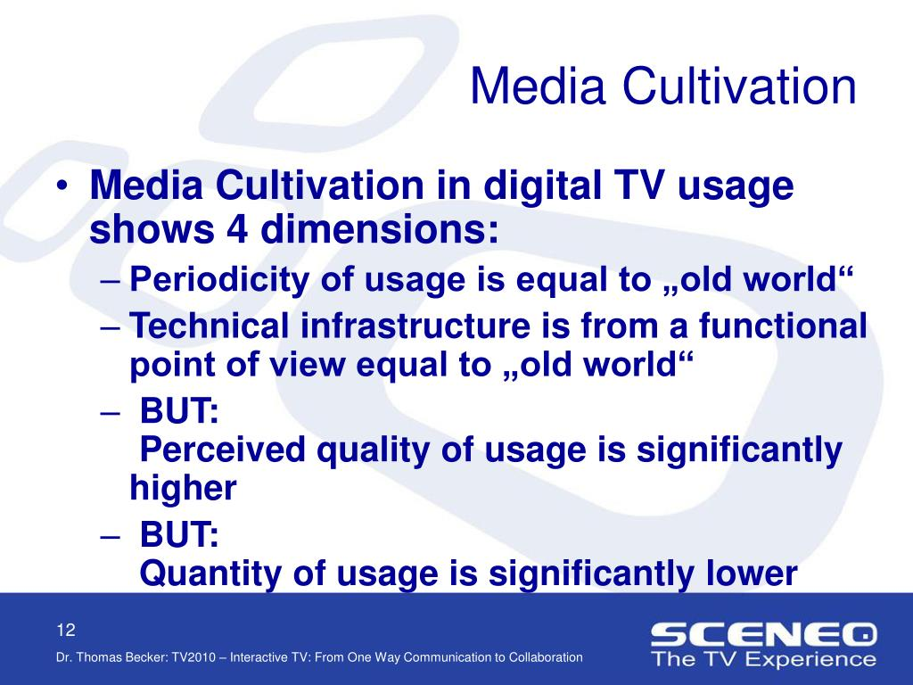 Media Cultivation