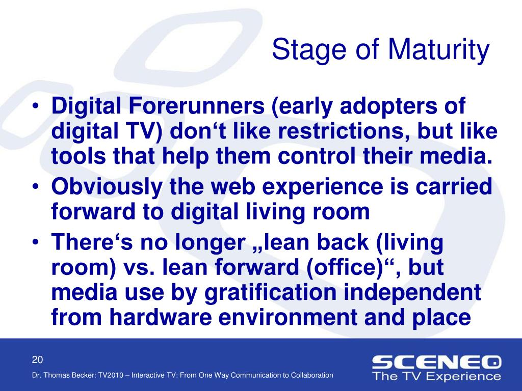 Stage of Maturity