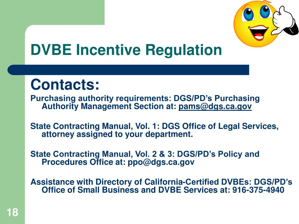 DVBE Incentive Regulation