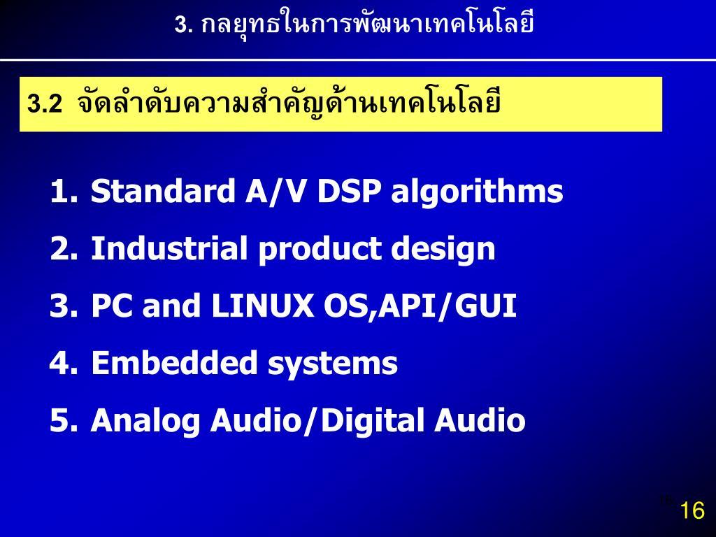 3. กลยุทธในการพัฒนาเทคโนโลยี