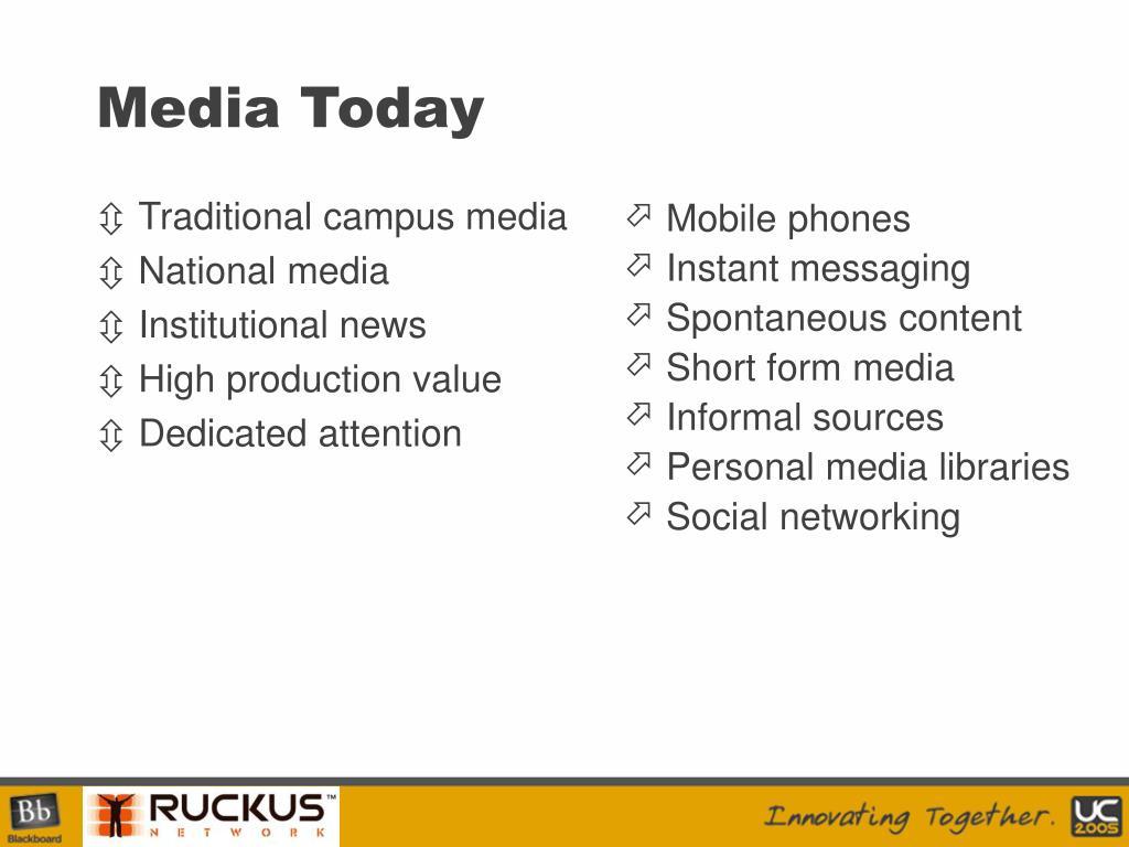 Traditional campus media