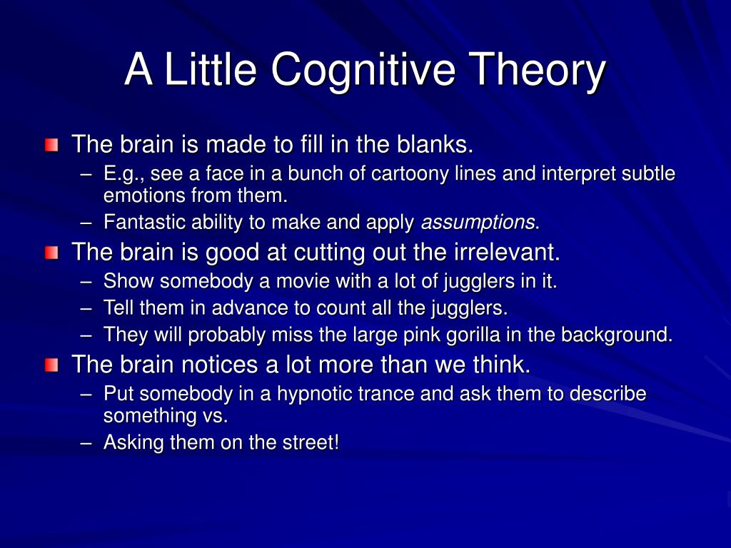A Little Cognitive Theory
