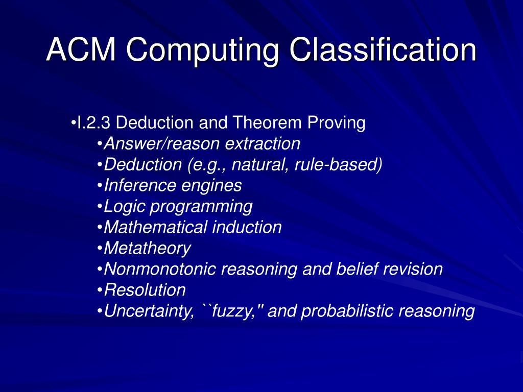 ACM Computing Classification