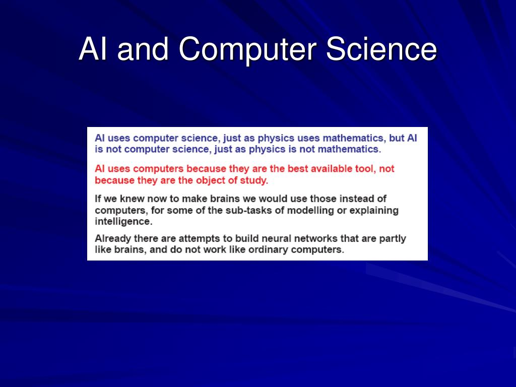AI and Computer Science