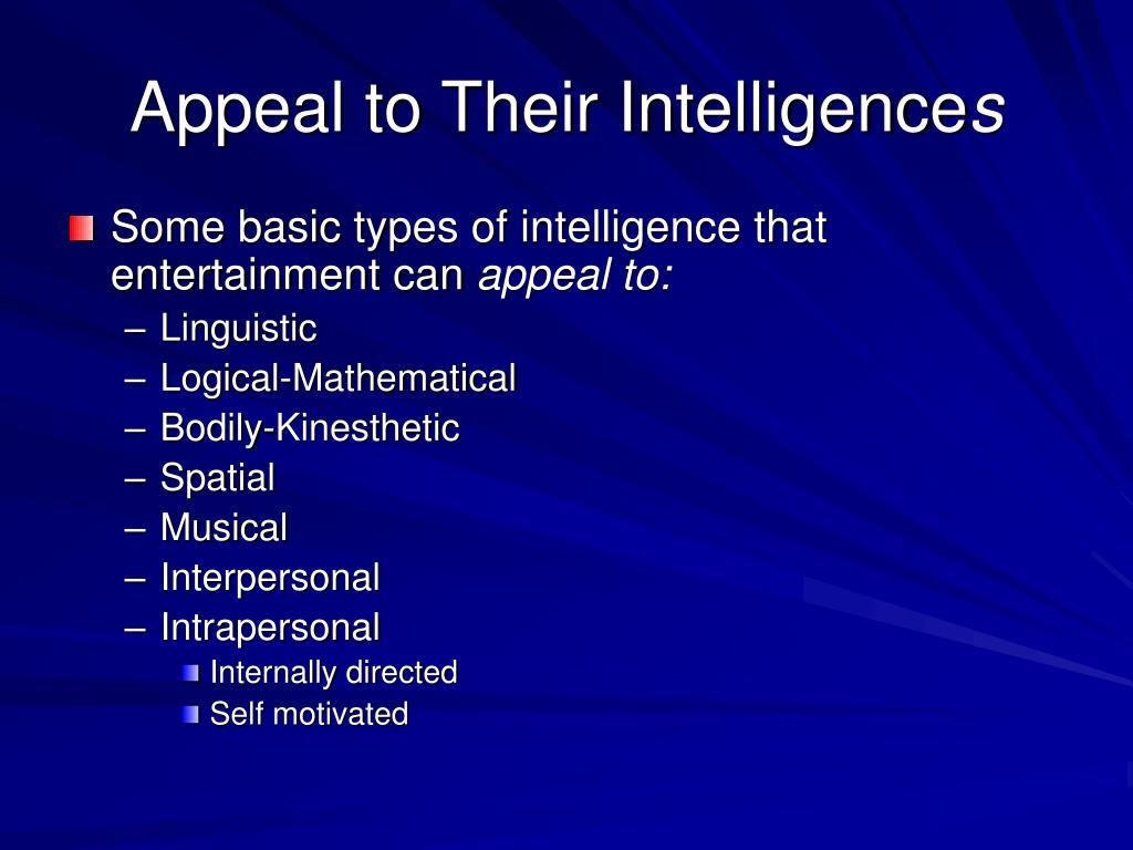 Appeal to Their Intelligence