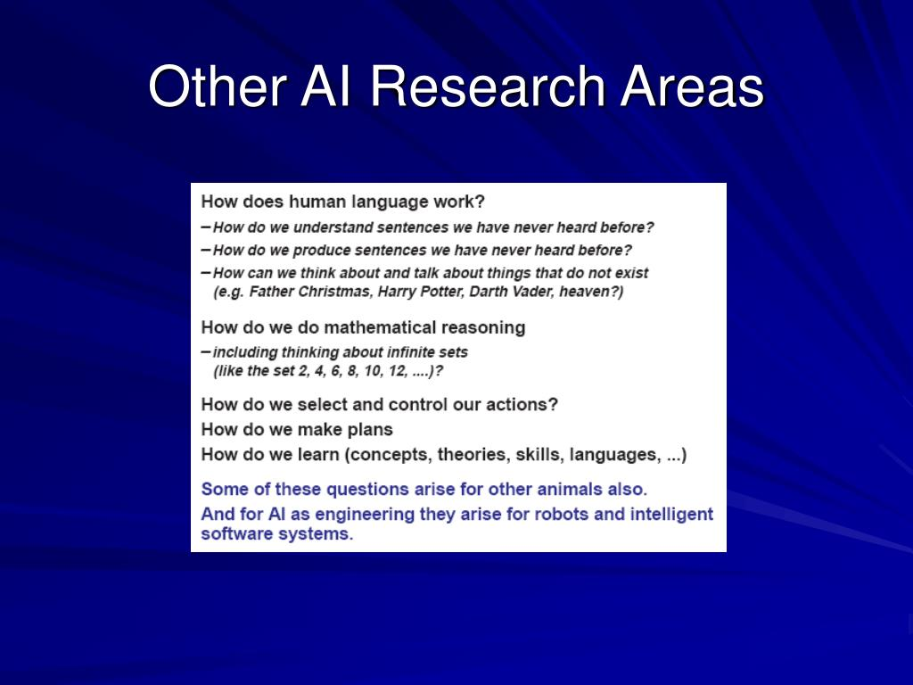 Other AI Research Areas