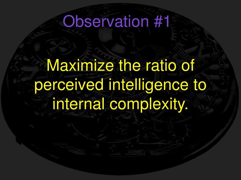 Observation #1