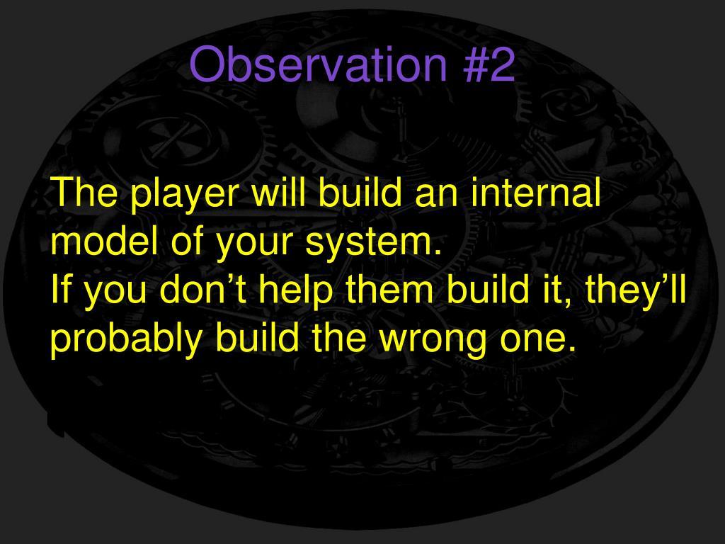 Observation #2