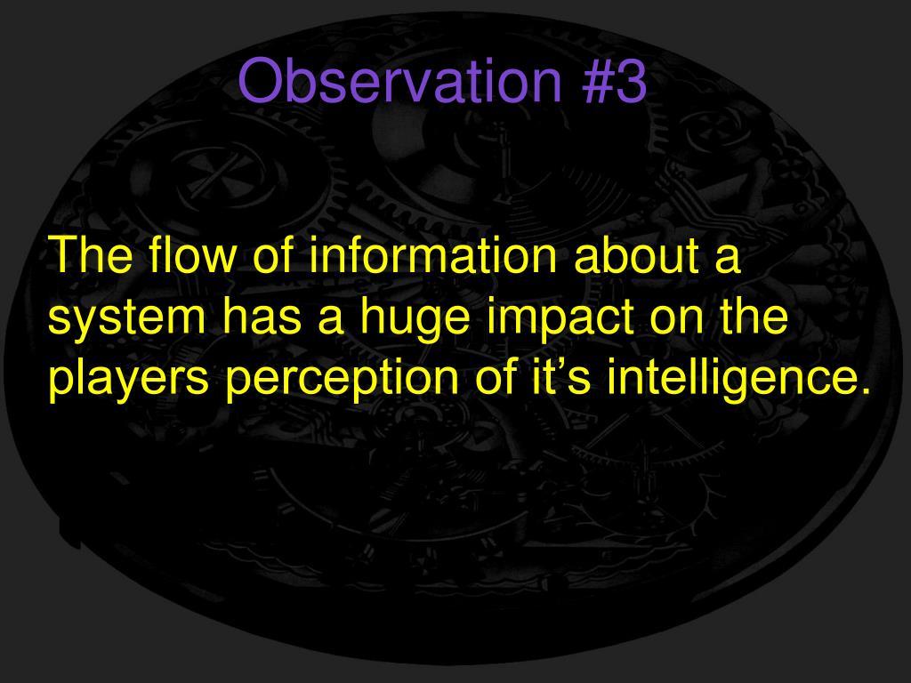 Observation #3