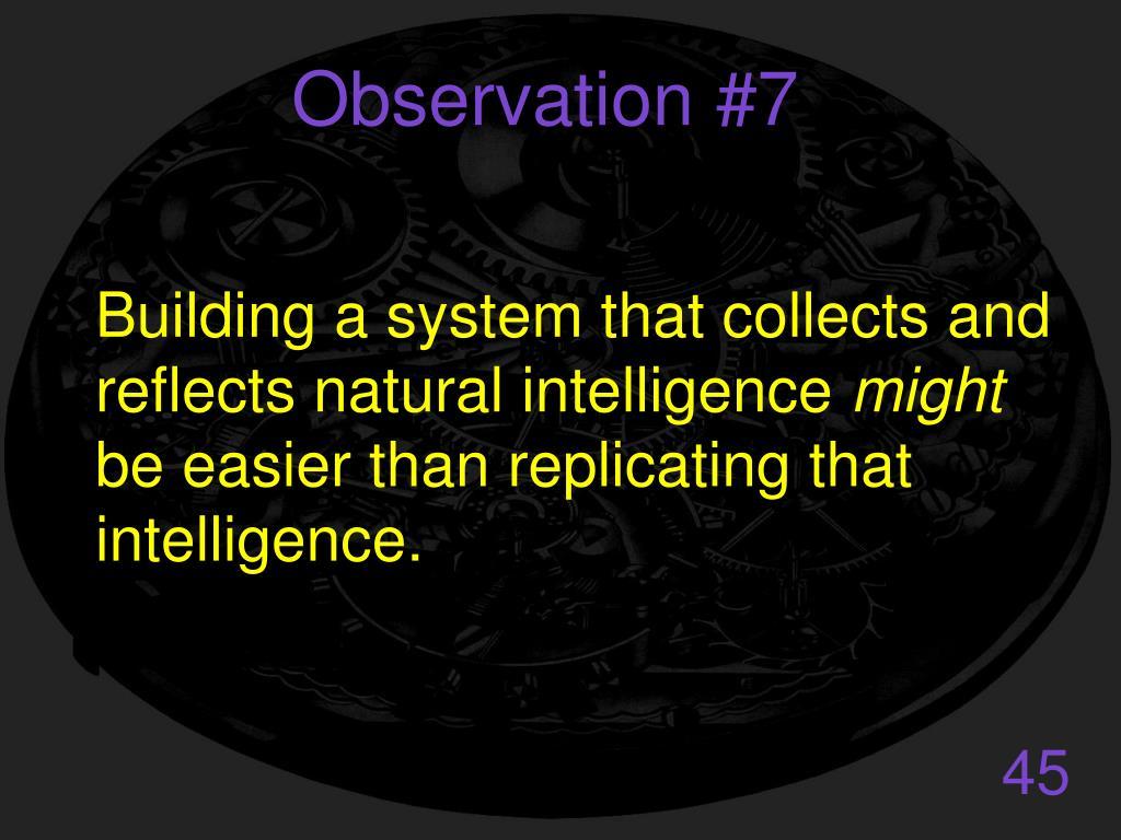 Observation #7