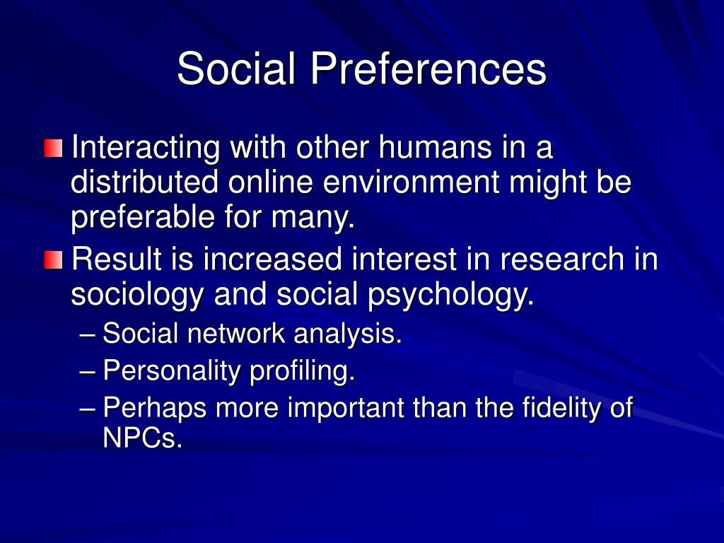 Social Preferences