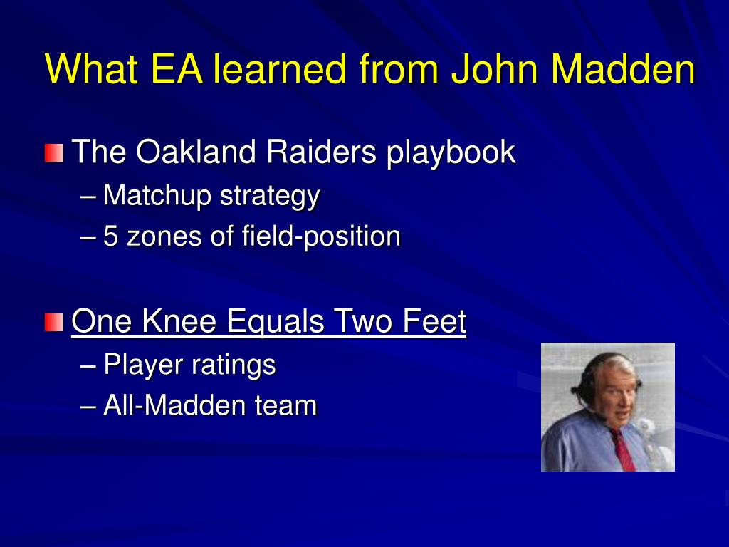 What EA learned from John Madden