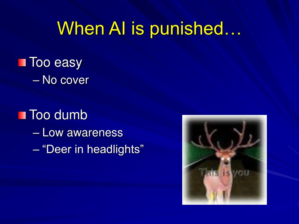 When AI is punished…