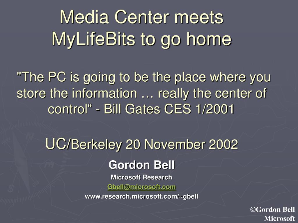 Media Center meets