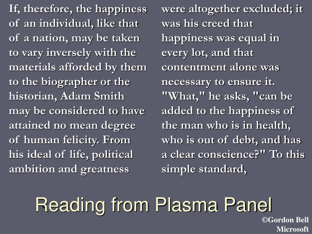 Reading from Plasma Panel