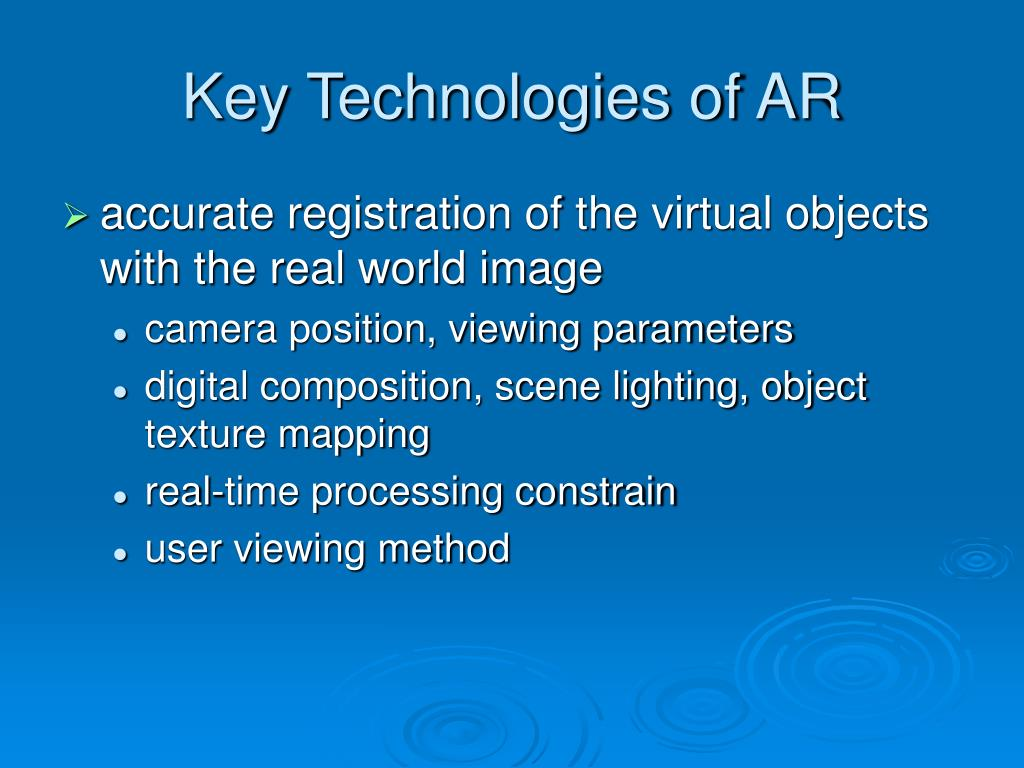 Key Technologies of AR