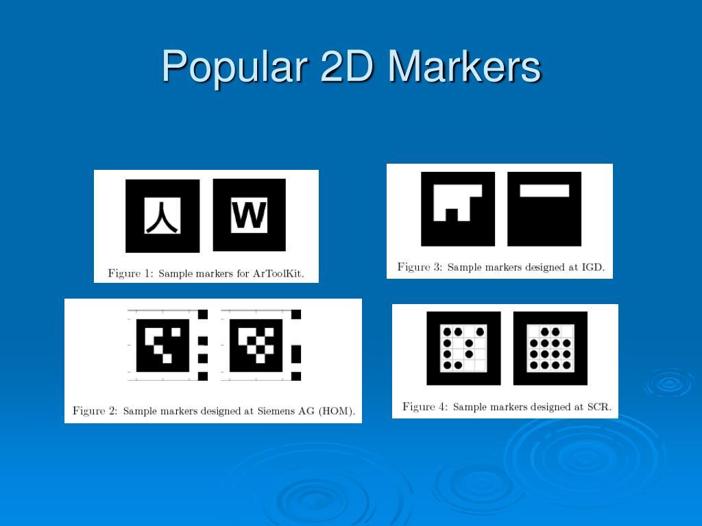 Popular 2D Markers