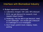 interface with biomedical industry6
