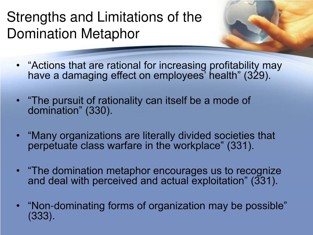 metaphors of organizations Discussion of metaphors are like lenses business essay print  i agree with the statement of metaphors are like  theory believes that organizations are not.