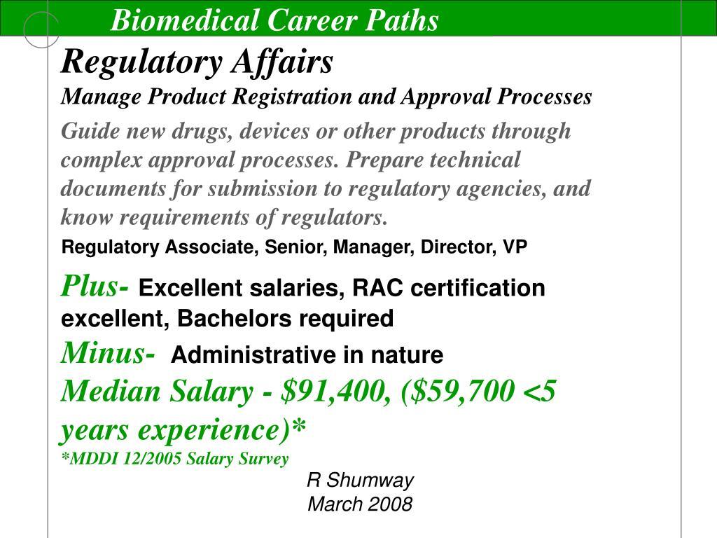 Biomedical Career Paths