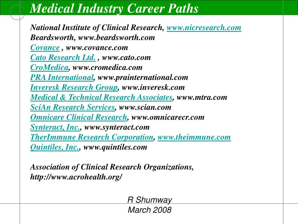 Medical Industry Career Paths