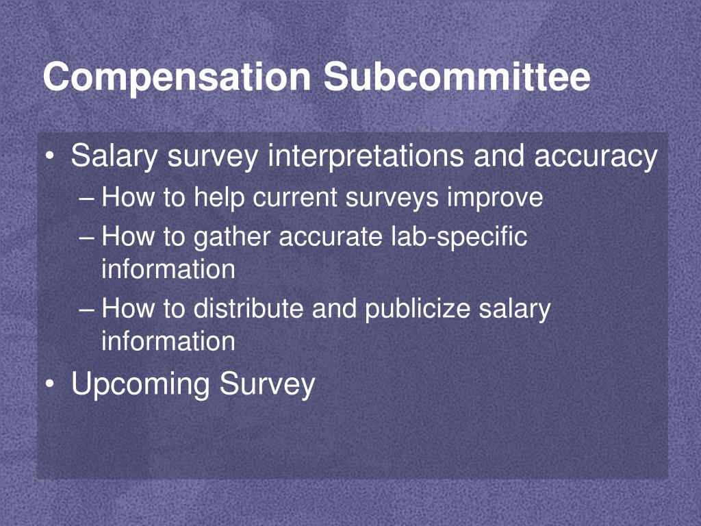Compensation Subcommittee