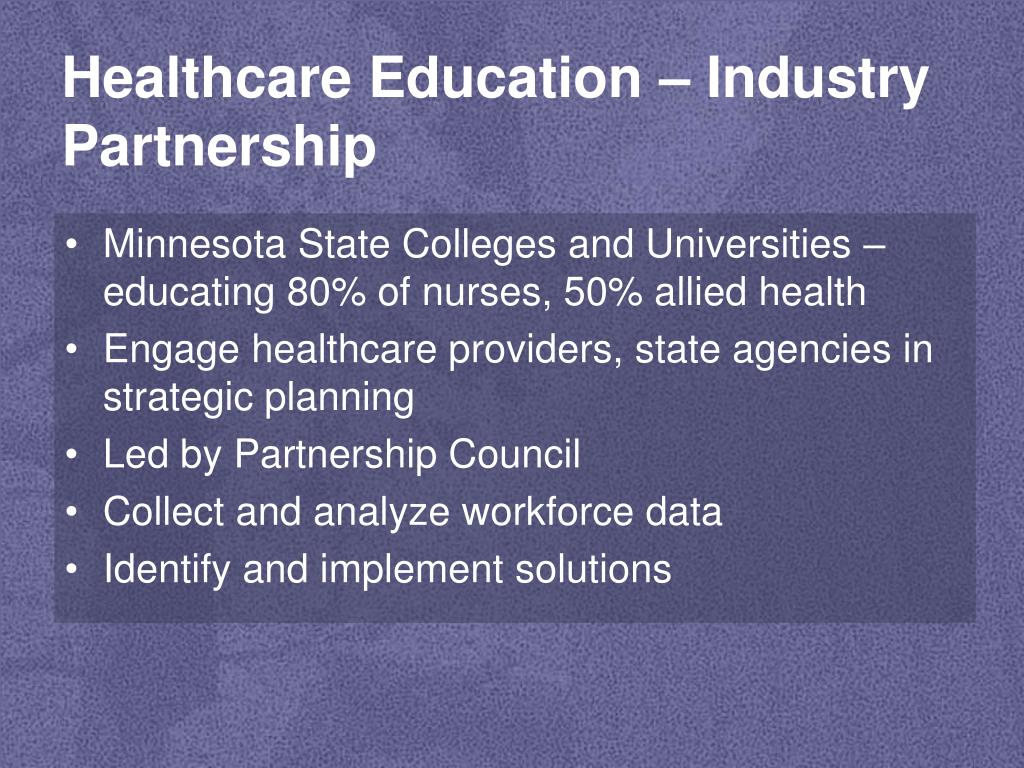 Healthcare Education – Industry Partnership