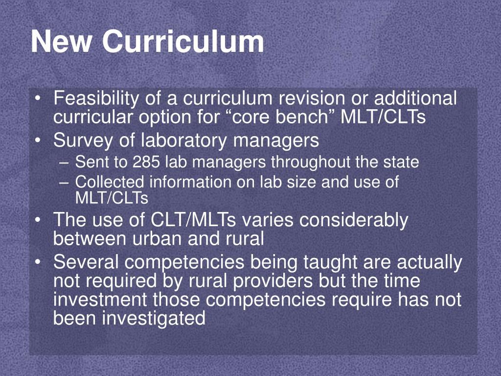 New Curriculum