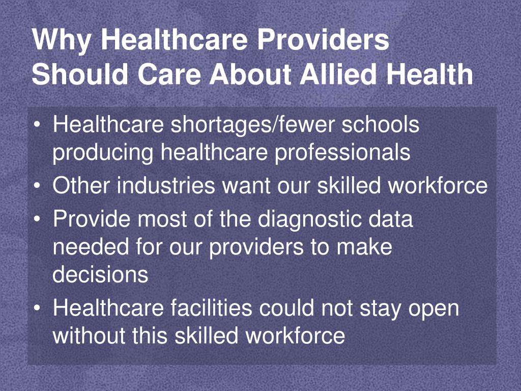 Why Healthcare Providers Should Care About Allied Health