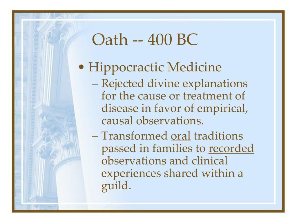 Oath -- 400 BC
